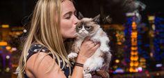 Le chat n'éprouve pas un sentiment de sécurité dans les bras de son propriétaire. ©MediaPunch/REX/REX/SIPA