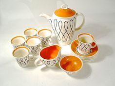 Art Deco Porcelain Tea Set Susie Cooper Elegance by perfectpatina