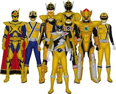 All of Super Sentai's Golds by Taiko554