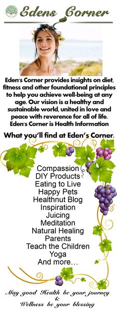 Eden's Corner provides insights on Weight loss naturally, fitness and other foundational principles to help you achieve well-being at… Visit Eden's Corner for natural solution to weight loss, body work, meditation and more. The All Natural Way! <3<3 May health be your journey & wellness be your blessing. <3<3 https://www.facebook.com/edenscorner  & https://plus.google.com/+EdensCornerPuyallup/posts <3<3