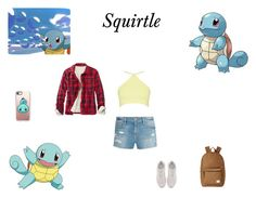 """""""Pokemon - 007 Squirtle"""" by alexiszaailove ❤ liked on Polyvore featuring Frame, Casetify, Herschel Supply Co., L.L.Bean and Fendi"""