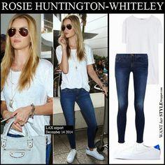 Celebrity Bargain Buys - #rosiehuntingtonwhitley in frame denim #jeans $213 US  #celebcasuals