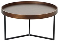 Barrie Walnut Round Tray Table S$149