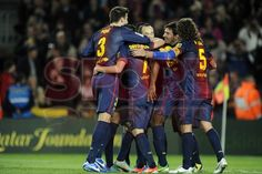 FC Barcelona celebrando  | BARÇA, 3 - ZARAGOZA, 1. 17.11.12.