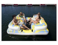 Perfect for the lake!!!  58299QIntex Oasis Island Inflatable Floating Water Lounge Raft