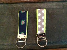 Keychains by Ribbonnthreads on Etsy