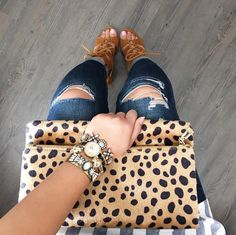 Leopard Foldover Clutch #JessLeaBoutique #JessLeaBlogger