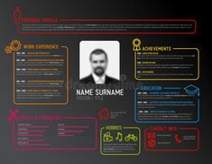 Download Original Cv / Resume Template Stock Illustration - Illustration of application, hiring: 60361052
