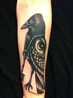raven & eye by Pietro Sedda #tattoo #ink