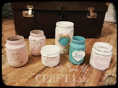 Dekor paint chalky shabby chic lanterns DIY