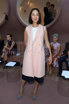 Who sat Dior Front row: Nicole Warne.