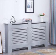 Modern Radiator Cover Wood MDF Wall Cabinet Grey - in 4 Sizes Modern Radiator Cover, Wall Heater Cover, Home Radiators, Modern Radiators, Mdf Furniture, Garden Furniture, Kitchen Radiator, Painted Radiator, Home