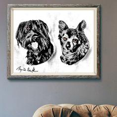 Dark Mountains, Dog Artwork, Mountain Art, Selling Art, Pet Portraits, Design Art, Original Artwork, How To Draw Hands, Canvas Art