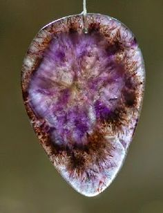 This stone is based in Amethyst, Citrine, and Smoky Quartz. and contains traces of at least 17 different minerals in each stone. Crystals Minerals, Rocks And Minerals, Stones And Crystals, Gem Stones, Healing Stones, Crystal Healing, Crystal Kingdom, Rocks And Gems, Smoky Quartz