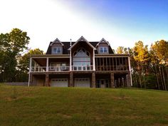 Open Floor Plan With Wrap Around Porch Rustic Home