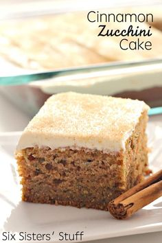 Cake with Cream Cheese Frosting Cinnamon Zucchini Cake with Cream Cheese Frosting on - the best way to eat zucchini!Cinnamon Zucchini Cake with Cream Cheese Frosting on - the best way to eat zucchini! 13 Desserts, Delicious Desserts, Dessert Recipes, Zucchini Desserts, Zucchini Cheese, Zucchini Muffins, Cookbook Recipes, Sugar Free Zucchini Cake, Pumpkin Zucchini Cake