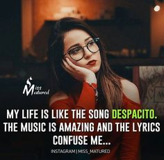Music is easy living ❤ Crazy Girl Quotes, Real Life Quotes, Reality Quotes, True Quotes, Funny Quotes, Qoutes, Good Attitude Quotes, Strong Quotes, Attitude Status