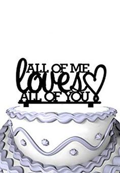 Meijiafei Script All Of Me Loves You Cake Decoration Review