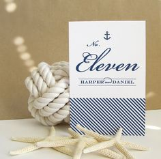 Anchor Table Numbers  Nautical Table Decor  by prettychicsf, $18.00