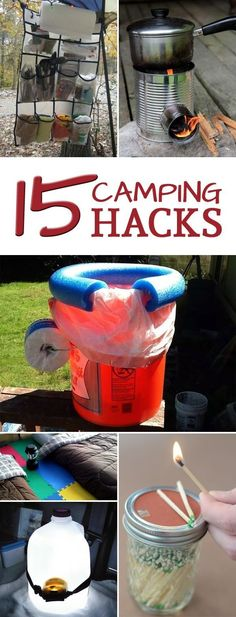 Camping Hacks That Are Truly Genius Here are some tips and tricks to make your next camping trip easier and more enjoyable.Here are some tips and tricks to make your next camping trip easier and more enjoyable. Camping With Kids, Camping Life, Camping Meals, Family Camping, Camping Stuff, Camping Cabins, Camping Items, Camping Gadgets, Couples Camping