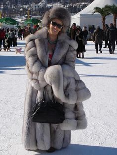 St. Moritz. When one gorgeous fox fur coat just isn't enough.