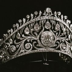 The Cartier tiara of Grand Duchess Helen in the kokoshnik shape ordered by her mother, Grand Duchess Vladimir as a present for her wedding to prince Nicholas of Greece in1902. You can see her daughter Princess Olga, my grandmother wearing it in a photo I posted previously.