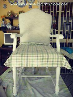cómo-tapizar-butaca-rústica Diy Sofa, Garage House, Sofa Design, Chalk Paint, Accent Chairs, Upholstery, Furniture, Home Decor, Ely