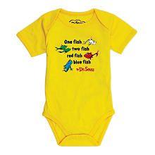 """Dr. Seuss Short Sleeve Bodysuit - One Fish (6 Months) - Bumkins - Babies """"R"""" Us"""