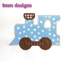 Machine Embroidery Applique Design Train. $4.00, via Etsy.