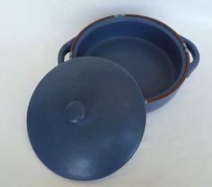 Dansk Designs Mesa Casserole Dish And Lid Round Blue Made In Portugal 2 Quart QT #DanskInternationalDesigns #CoveredCasserole