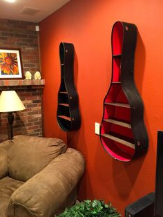 Guitar Case Shelves - this is cool as hell!
