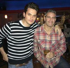 John Mayer and Andy Cohen. Shared via John Mayer IG