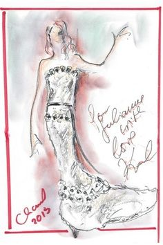 Karl Lagerfeld talks about Julianne Moore's Oscar dress.  Click on the image to read more.