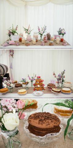 wedding cake sweet table
