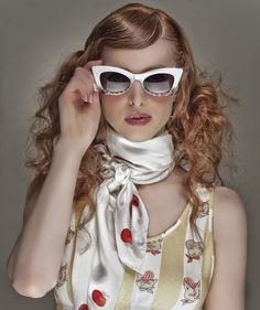 Fashion Photography - Spencer Jenkins. 50s - scarf - vintage - glasses - retro