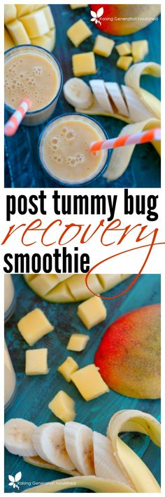 Post Tummy Bug Recovery Smoothie :: You've made it through a tummy bug, and are ready to eat - but what do you eat on a sensitive empty tummy? This smoothie is not only gentle, but is loaded with minerals and nutrients to nourish your family back to eating again!