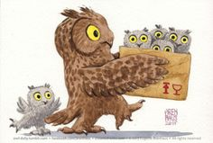 Owl Daily by Eugene Arenhaus