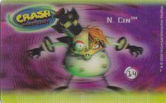CARD CARTA 3D  CRASH BANDICOOT MR. DAY PARMALAT 2000 CARTA N.  14  OTTIMA