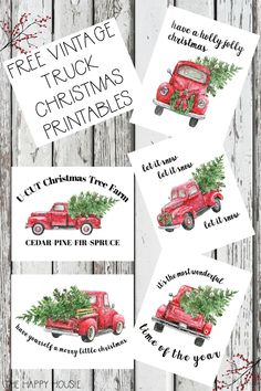 5 Free Vintage Truck Christmas Printables: Get these free classic vintage Christmas prints for your holiday home! #christmas #vintagechristmas