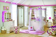 Cilek Flora XL Himmelbett Ab sofort können alle Mädchen sich wie Prinzessinnen betten und ebenso elegant wohnen. Im zauberhaften Himmelbett, umgeben vom feinsten Stoff, können Dornröschen unbekümmert einschlafen und von... #kinder #kinderzimmer #kinderbett #cilek