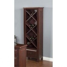 Sunny Designs Etagere with Wine Storage in Red Wine Bottle Rack, Wine Rack, Wine Storage, Tall Cabinet Storage, Natural Wood, Solid Wood, Wine Glass, All In One, Pure Products