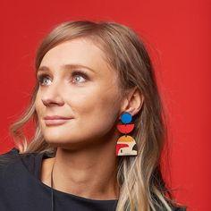 Fun, coloured hand made earrings