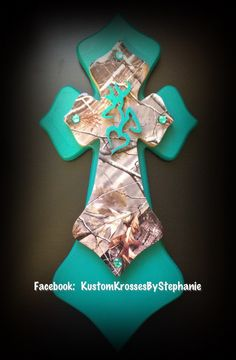Turquoise Camo Cross. This would be great in my house