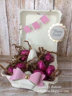 Sincerely, Babette: Banner Easter Egg Carton