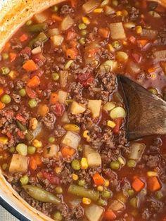 Vegetable Soup Tomato Hamburger Vegetable Soup Recipe on Yummly. Hamburger Vegetable Soup Recipe on Yummly. Vegetable Soup Tomato Hamburger Vegetable Soup Recipe on Yummly. Hamburger Vegetable Soup Recipe on Yummly. Beef Soup Recipes, Ground Beef Recipes, Cooking Recipes, Recipes With Tomato Soup, Top Recipes, Potato Recipes, Budget Recipes, Recipies, Easy Vegetable Beef Soup