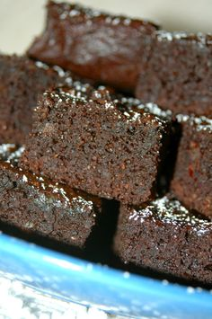 Chewy Chocolate Date Brownies gluten free