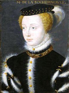 Portrait de Charlotte de Roye, comtesse de la Rochefoucauld, c. 1577