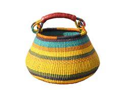 african woven grass gambibgo pot basket | via rummage home