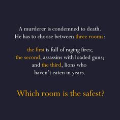Post with 15908 votes and 348088 views. Tagged with , , ; Shared by matriciu. Murder riddles anyone ? Funny Riddles With Answers, Tricky Riddles, Jokes And Riddles, Maths Riddles, Tough Riddles, Mystery Riddles, Brain Teasers Riddles, Tricky Questions, This Or That Questions