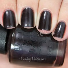 OPI Love Is Hot And Coal | Holiday 2014 Gwen Stefani Collection | Peachy Polish